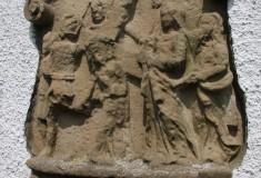 Thiaumont calvaire dans le mur de la chapelle Faber